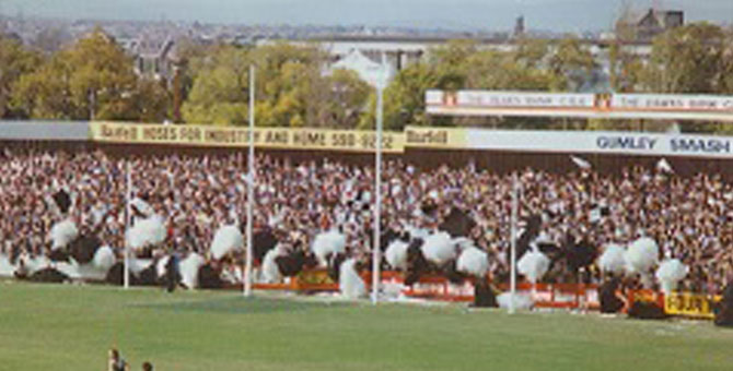 Collingwood Cheer squad 1981