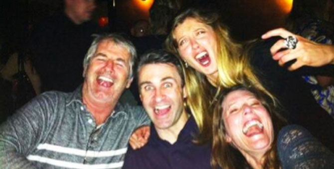 Scary laughing with John Jarratt and 'scream queens' Robyn and Maree.