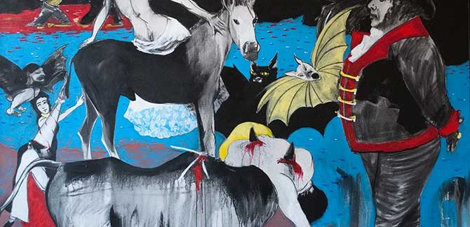 Geoff Todd, 'The Goya Painting' (2013), acrylic & charcoal on canvas, 168 x 214 cm.
