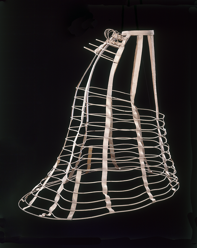 Cage crinoline, Unknown, ca.1868. Museum no. T.195-1984. © Victoria and Albert Museum, London