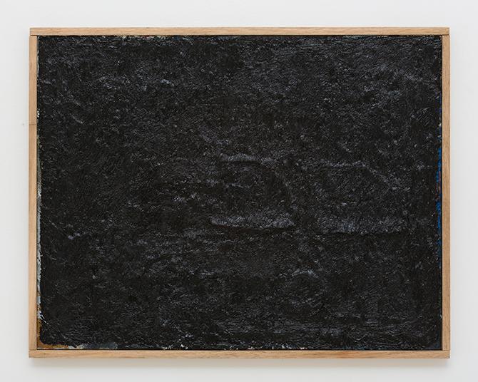 Jake Walker, 'Black Painting 1' 2012-13, oil on board.