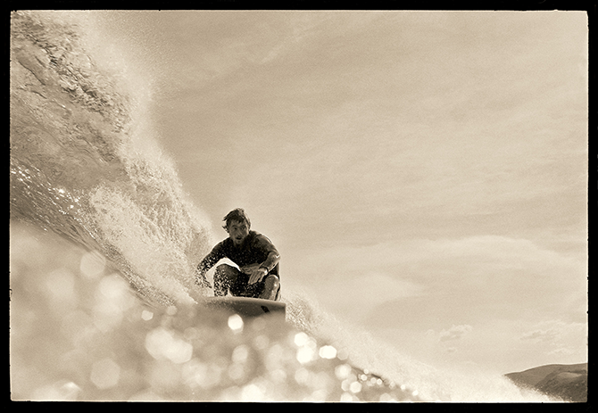 John Witzig, Ted Spencer at Bells Beach 1971, pigment print.