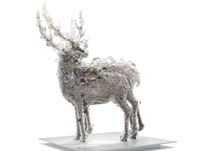 Kohei NAWA (Japan b.1975), PixCell-Double Deer#4 2010, mixed media. Purchased 2010 with funds from the Josephine Ulrick and Win Schubert Diversity Foundation through the Queensland Art Gallery Foundation Collection: Queensland Art Gallery.