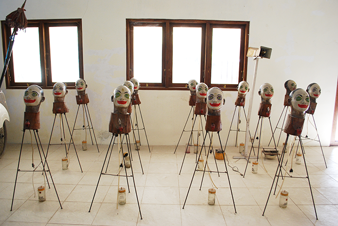 Heri Dono works in progress - photo by Naima Morelli