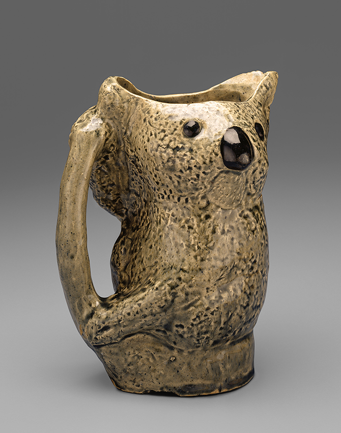 Merric Boyd, Australia 1888-1959, Jug 1923, earthenware, National Gallery of Victoria, Melbourne. Gift of Don McCrae, 1991 © Merric Boyd. Outer Circle: The Boyds and the Murrumbeena Artists, Level 3, NGV Australia, Federation Square Melbourne (VIC), 17 October – 1 March 2015 - ngv.vic.gov.au