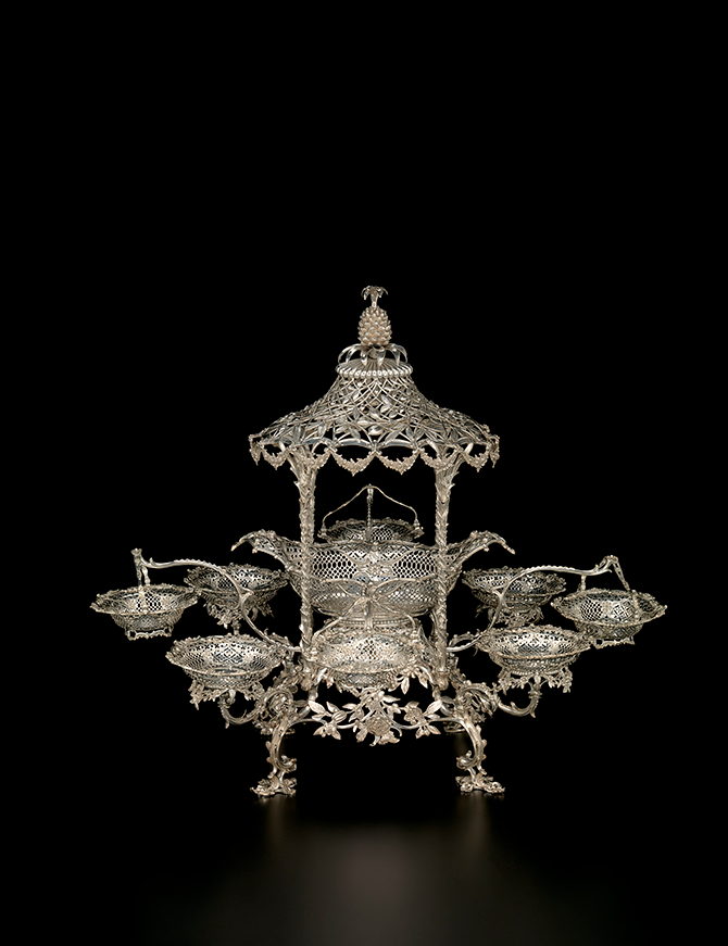 Thomas Pitts, London (manufacturer) English (active 1744-93), Epergne (1762-63), silver, 63.6 x 76.3 x 64.8 cm (overall), National Gallery of Victoria, Melbourne. (Felton Bequest, 1932).