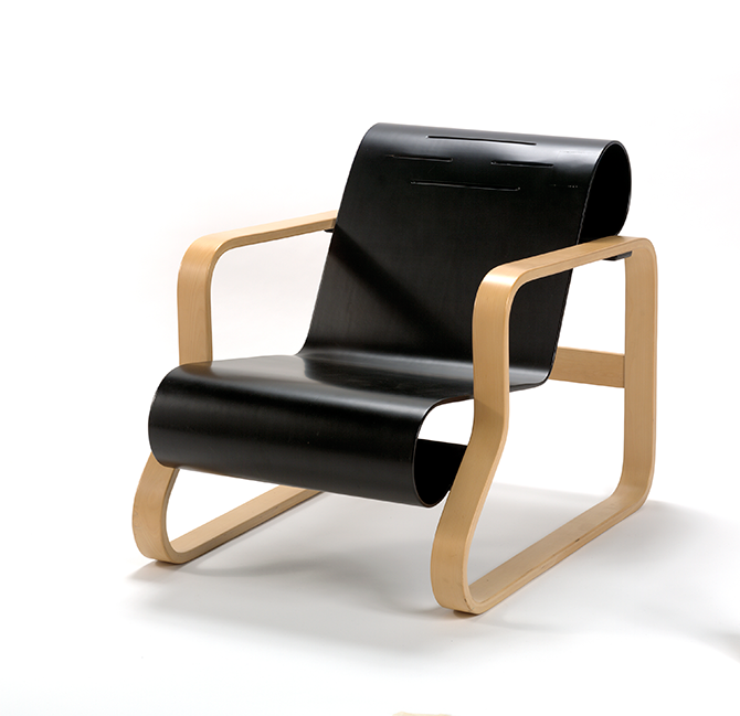 ARTEK, Helsinki (manufacturer), Finnish est. 1935, Alvar AALTO (designer) Finnish 1898–1976, Armchair 41 1930 (designed), early 1970s (manufactured), laminated Birch, painted plywood, 63.7 x 61.1 x 86.6 cm. National Gallery of Victoria. Melbourne. Purchased, 1975. Nordic Cool: Modernist Design, National Gallery of Victoria, NGV International, 180 St Kilda Road, Melbourne (VIC), until 31 December 2015 - ngv.vic.gov.au