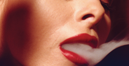 Face and Smoke #1 1992, chromogenic development print, 35.56 x 27.94cm. Courtesy: the artist © David Lynch.