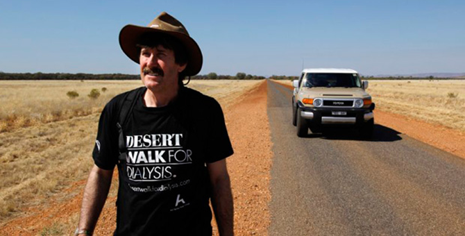 Desert Walk for Dialysis, Ken McGregor