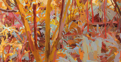 Mary Tonkin, Days Like This, Kalorama (detail) 2014, oil on linen, 58 x 77 cm.