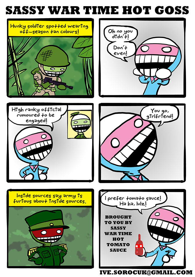 This comic first appeared in Trouble September 2010