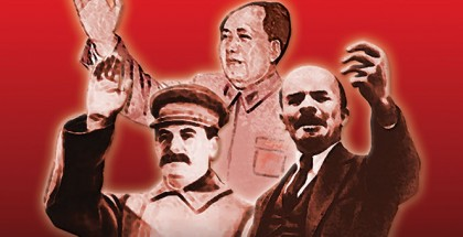 The Three Terrors: Stalin, Lenin and Mao, souvenir poster (concept by Ákos Réthly), 70 x 100 cm, © Memento Park, Budapest. Available from the Red Star Store