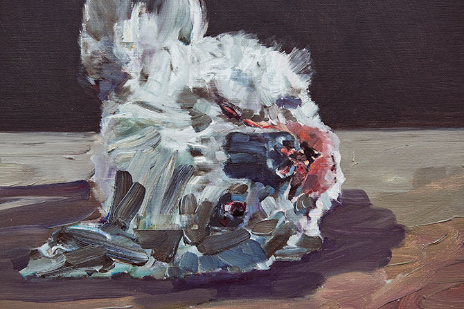 Guy Maestri, 'Wreck' (detail) 2015, oil on linen, 51cm x 61cm.