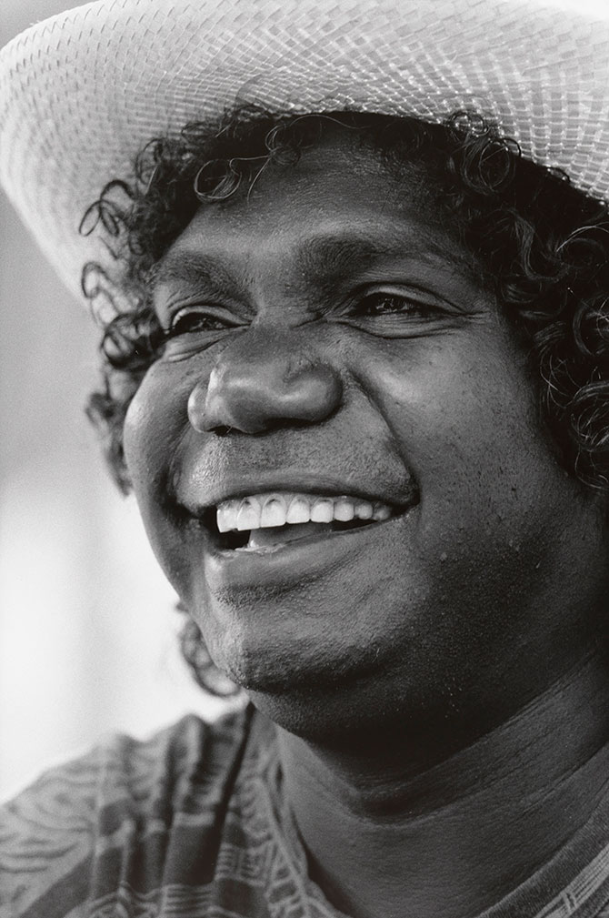Lorrie Graham, Mandawuy Yunupingu' (detail) 1991, gelatin silver photograph. Collection: National Portrait Gallery, Canberra. Awesome Achievers: Stories from Australians of the Year, Manningham Art Gallery, Manningham City Square (MC²), 687 Doncaster Road, Doncaster (VIC), until 14 May