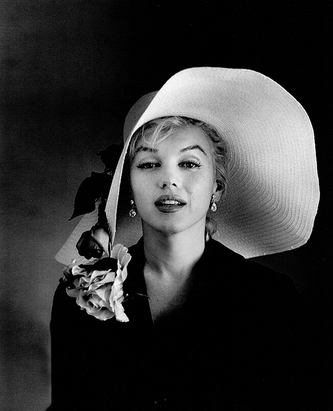 Carl Perutz (1921-81), Marilyn wearing a white, floppy hat (Perutz-002), from Marilyn Monroe, Easter Hat series (1958), © 2004, Courtesy of Pete Livingston.