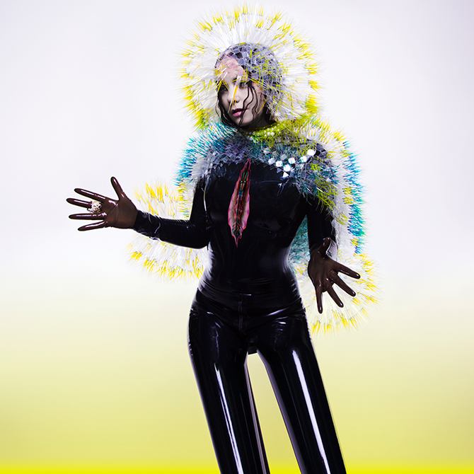 BJÖRK DIGITAL WORLD PREMIERE EXHIBITION and one night only DJ set and performance curated by Björk, Carriageworks, 245 Wilson St, Eveleigh (NSW), 3 June 2016. Program is part of Vivid Sydney and includes an extensive line-up of music, exhibitions and food from 27 May – 18 June 2016
