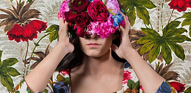 Polixeni Papapetrou, 'Blinded' 2016, pigment print, 127.3 x 85cm. 'Eden', Stills Gallery, 36 Gosbell Street Paddington (NSW), 3 September to 1 October 2016