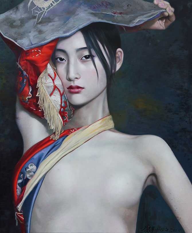 Ling Jian, Dream of the Red Chamber 2015, oil on canvas, 180 x 150cm. Views on the Marmara, Views from the Propontis, curated by Jeremy Gales, ACAF Projects, Contemporary Istanbul, Istanbul Congress Center (ICC) and Istanbul Convention and Exhibition Centre (ICEC), 3 –- 6 November 2016