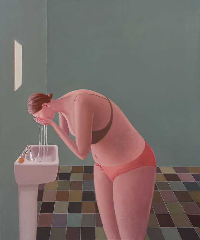 Prudence Flint, Wash 2015, oil on linen. Reproduced courtesy of the artist and Australian Galleries. Winner of the 2016 Len Fox Painting Award, Castlemaine Art Gallery, 14 Lyttleton Street, Castlemaine (VIC), until 31 December 2016