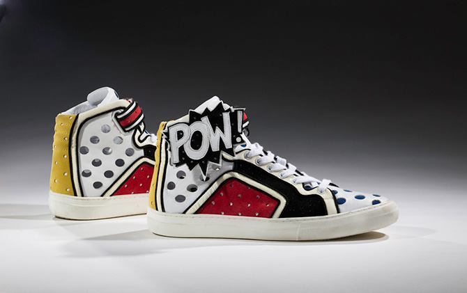 Pierre Hardy, Poworama 2011. Collection of the Bata Shoe Museum, gift of Pierre Hardy. Photo: Ron Wood. Courtesy American Federation of Arts/Bata Shoe Museum. The Rise of Sneaker Culture, Art Gallery of Western Australia, Perth Cultural Centre, Perth (WA), until 4 September